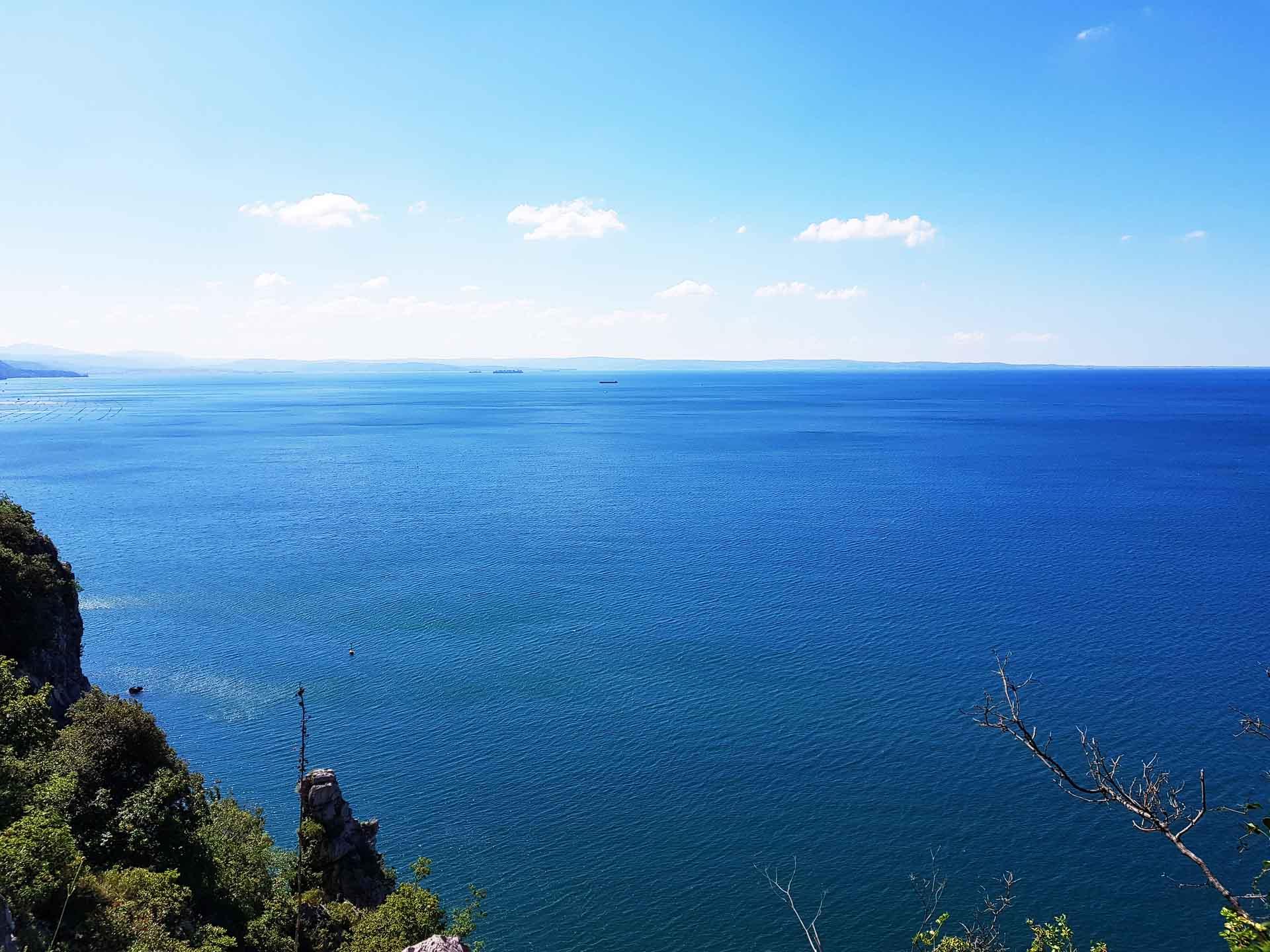 Rilkeweg - Blick in die Bucht von Triest