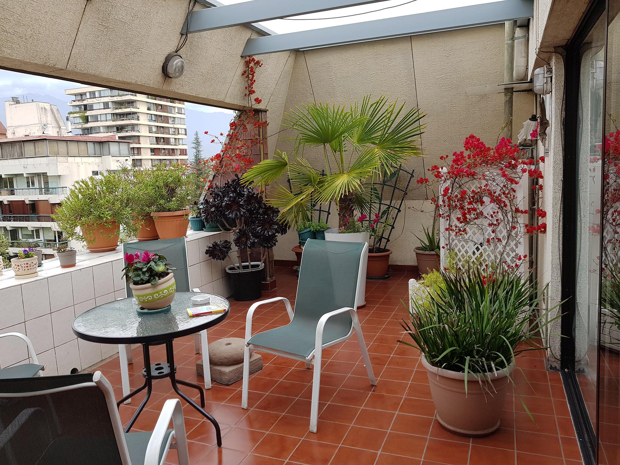"""Der reizende Balkon im privaten """"6-Stern-Hotel"""" in Santiago"""