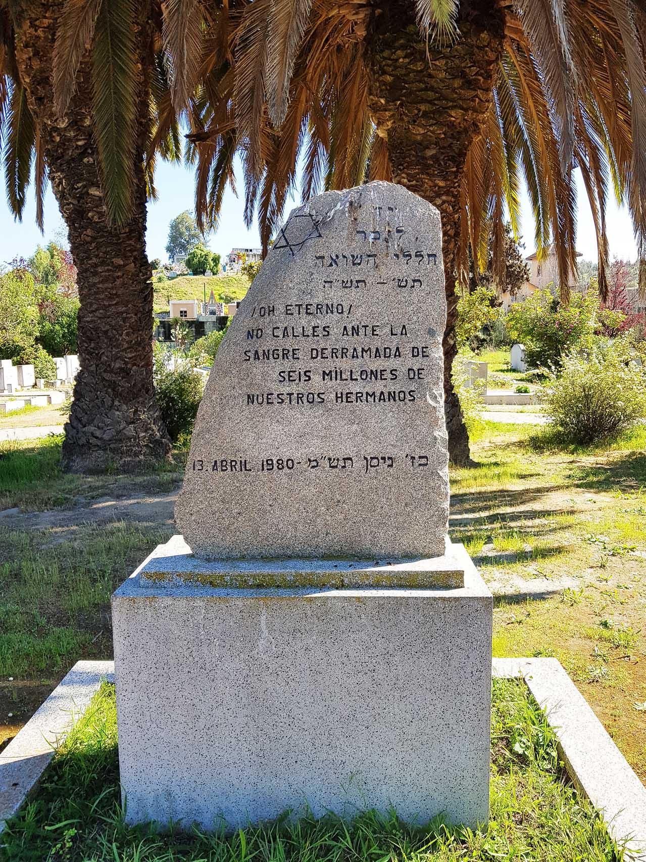 Schoa-Denkmal auf dem jüdischen Friedhof von El Belloto