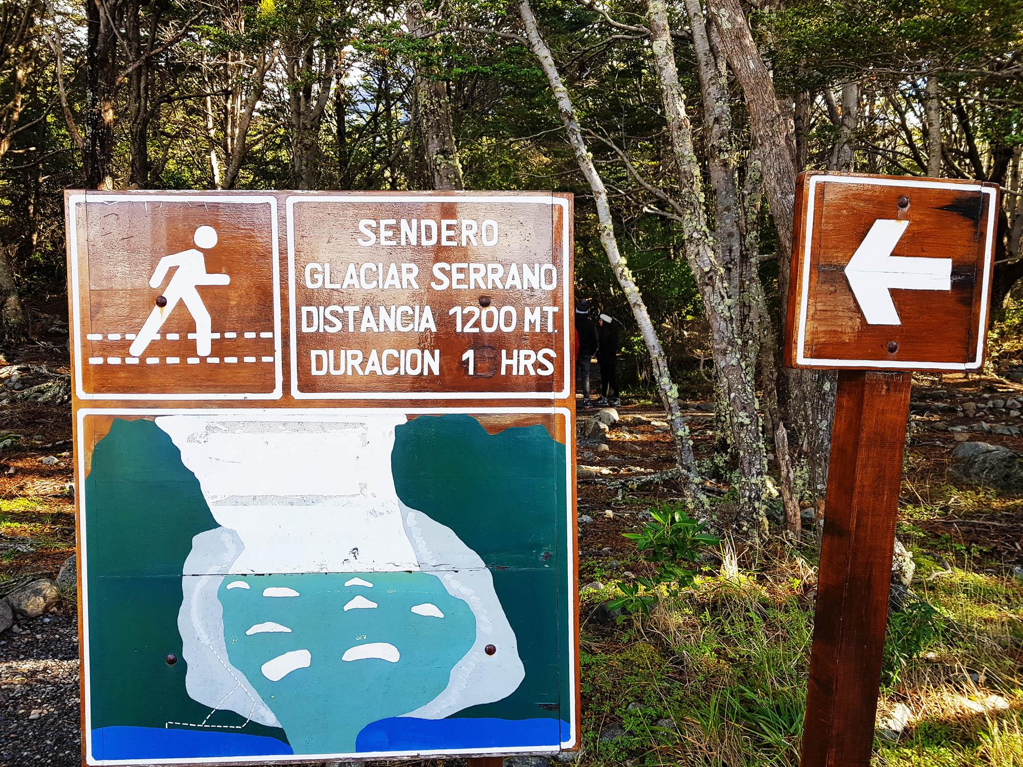 Von der Anlegestelle führte ein malerischer Fußweg zum Serrano-Gletscher