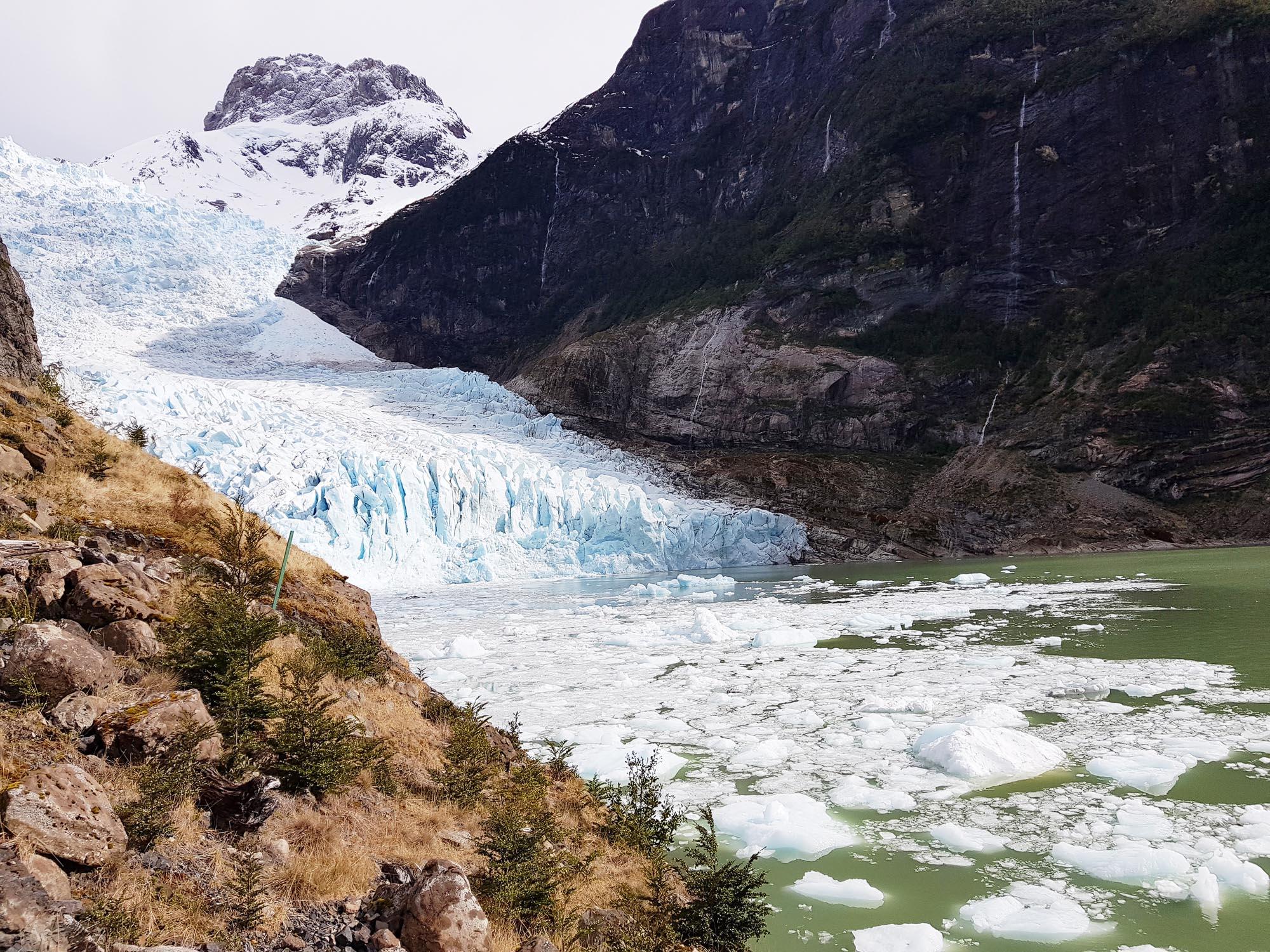 Der Serrano-Gletscher, höchst beeindruckend