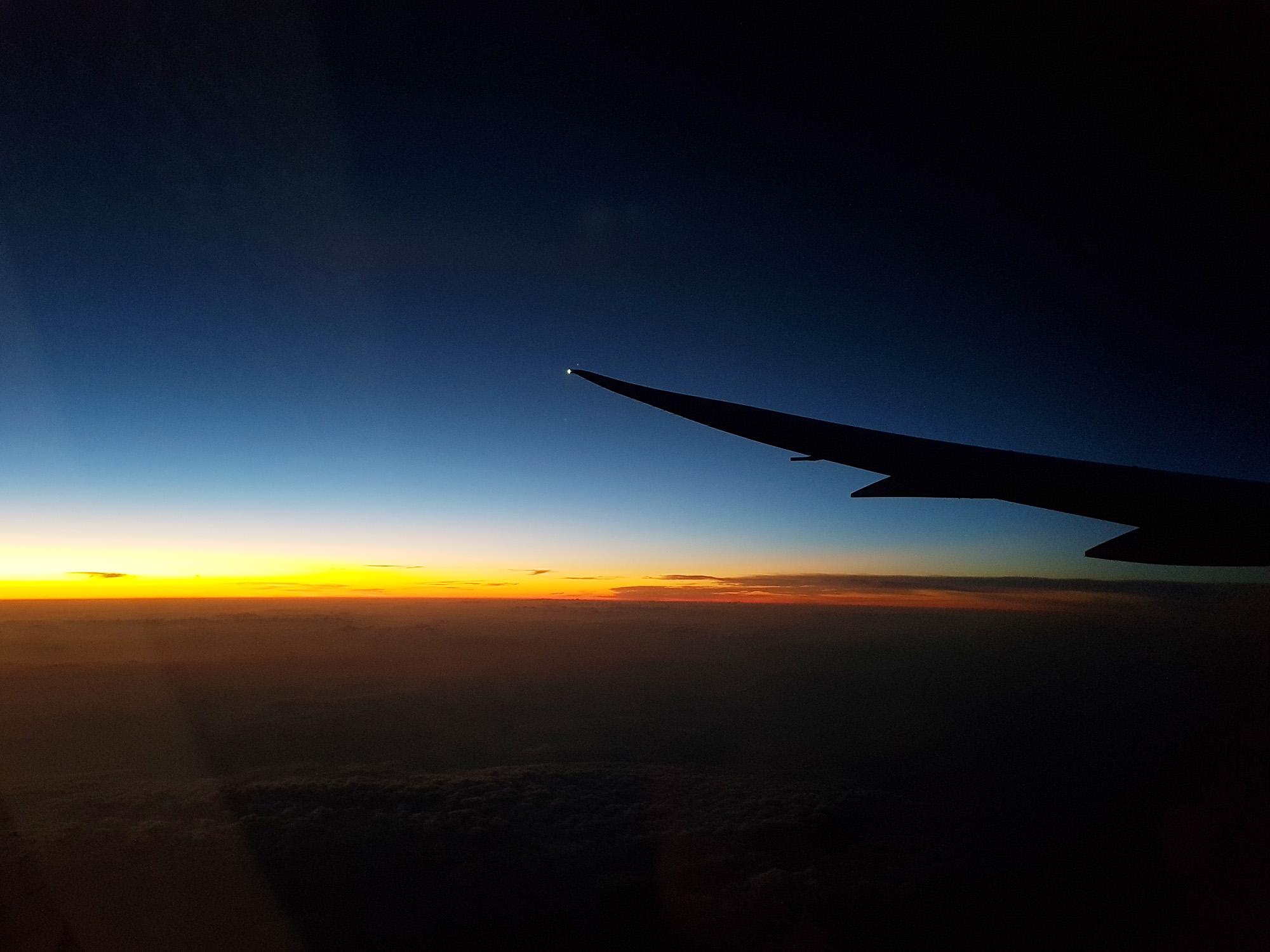Nachtflug London - Santiago de Chile