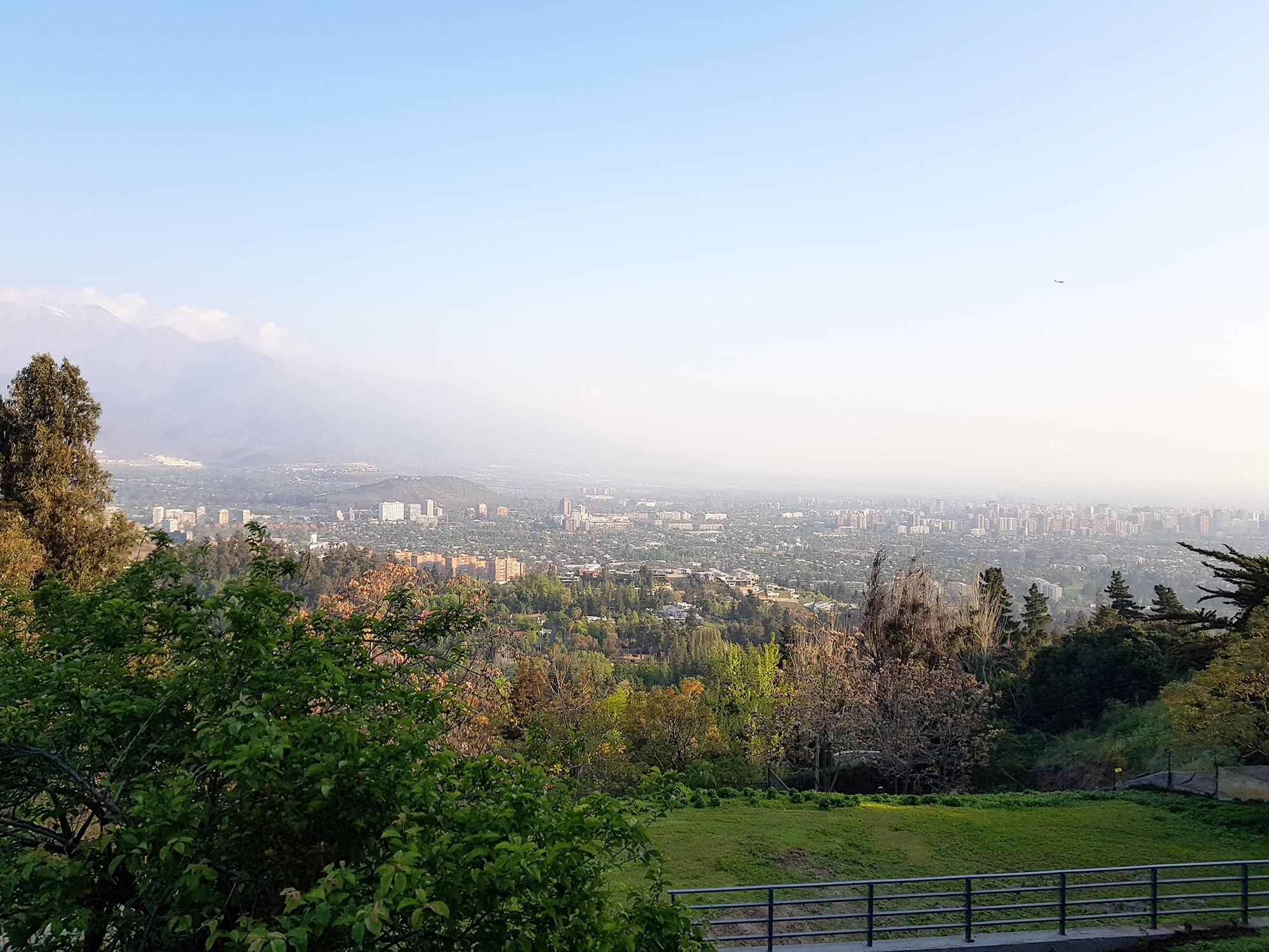 Blick auf die Millionenmetropole Santiago