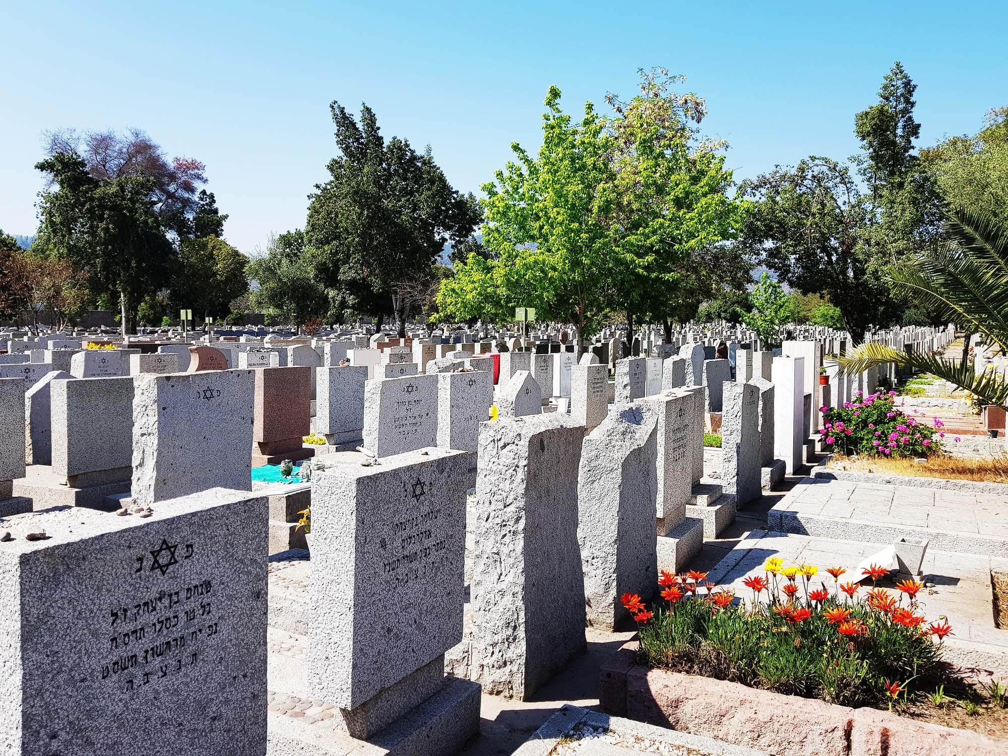 Jüdischer Friedhof in Santiago de Chile mit 8.800 Grabsteinen