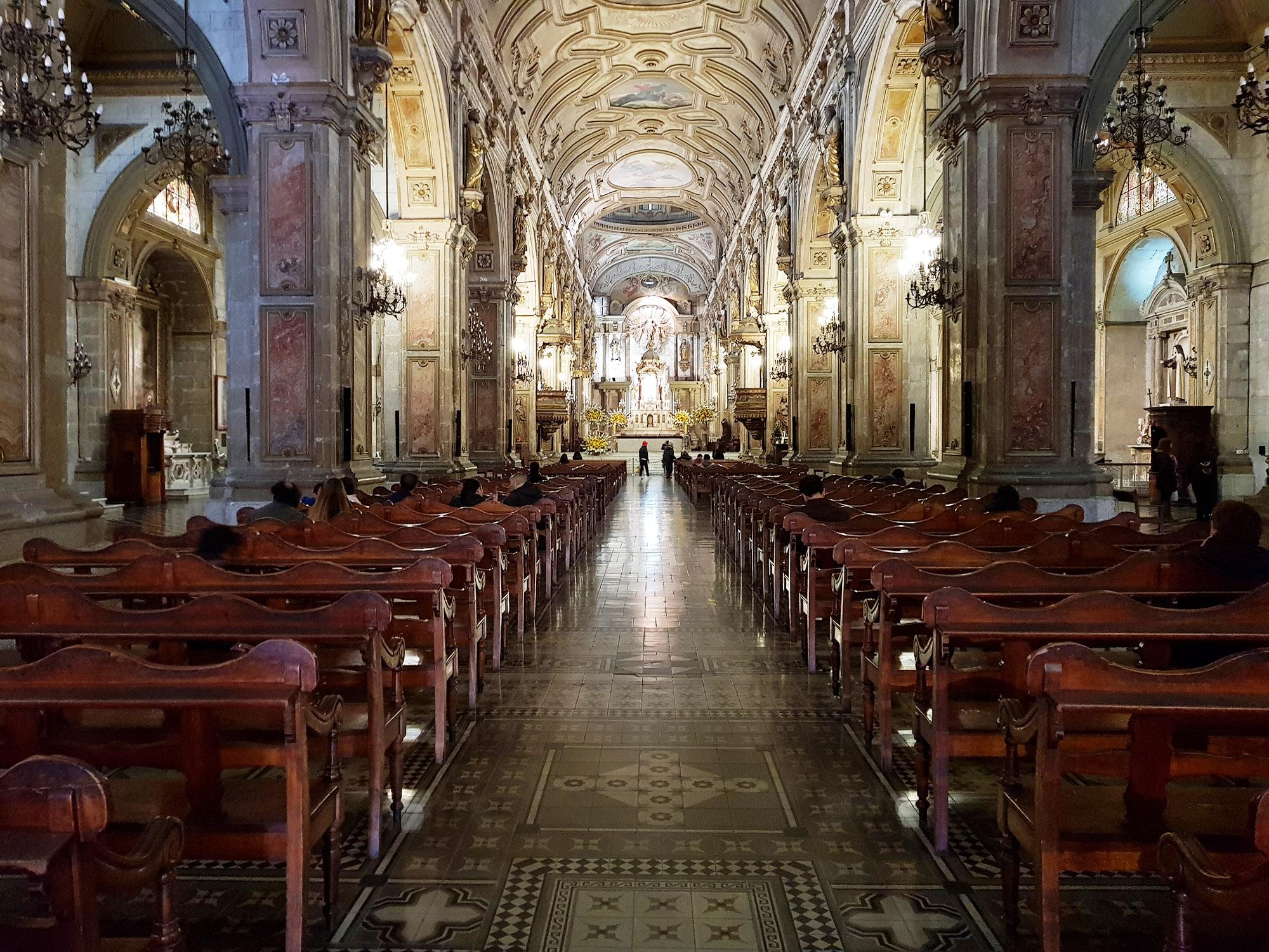 Metropolitan Kathedrale, erbaut zwischen 1748 und 1800, im Zentrum von Santiago de Chile