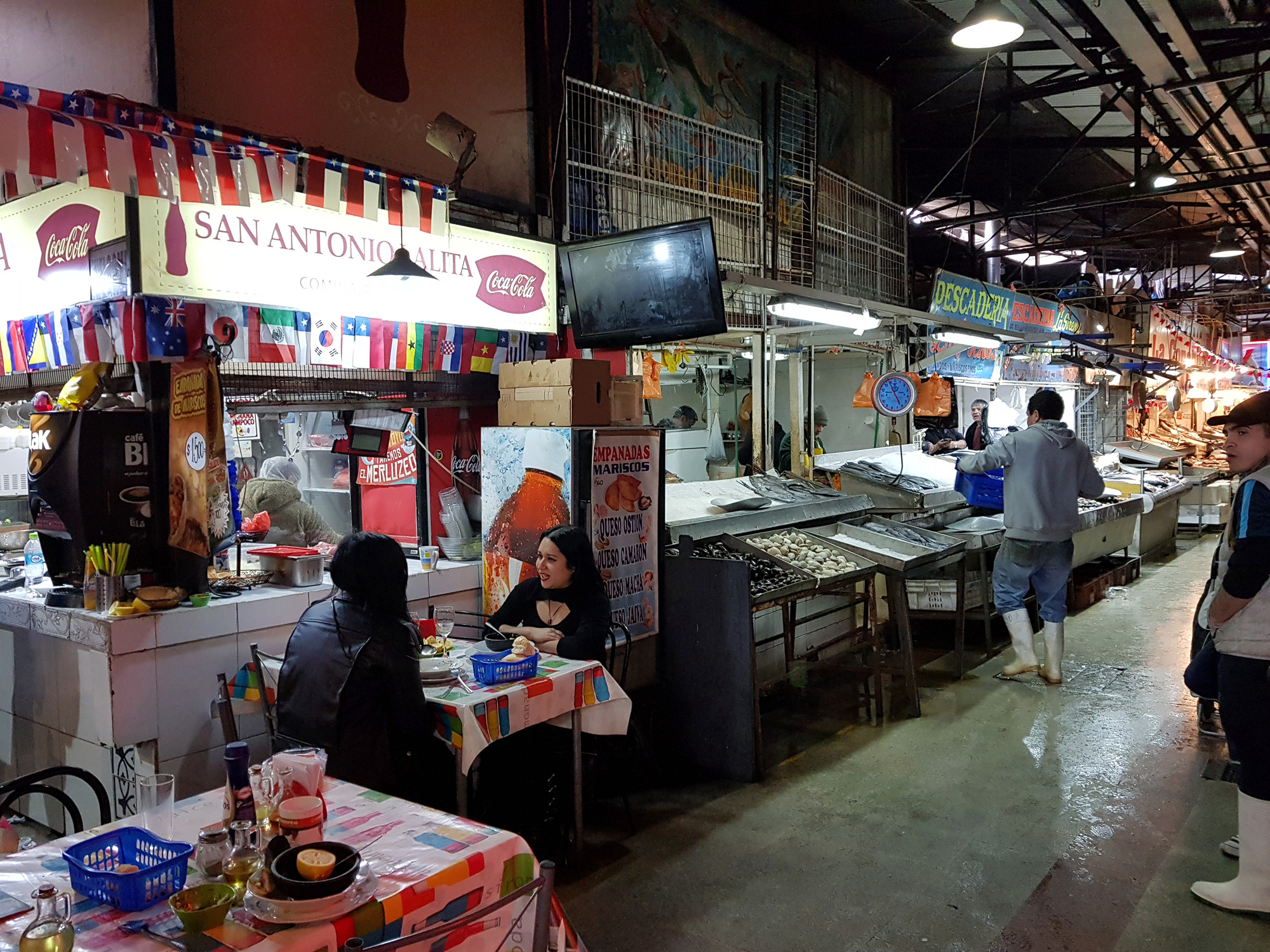 Mercado Central in Santiago, ein Nationalmonument Chiles