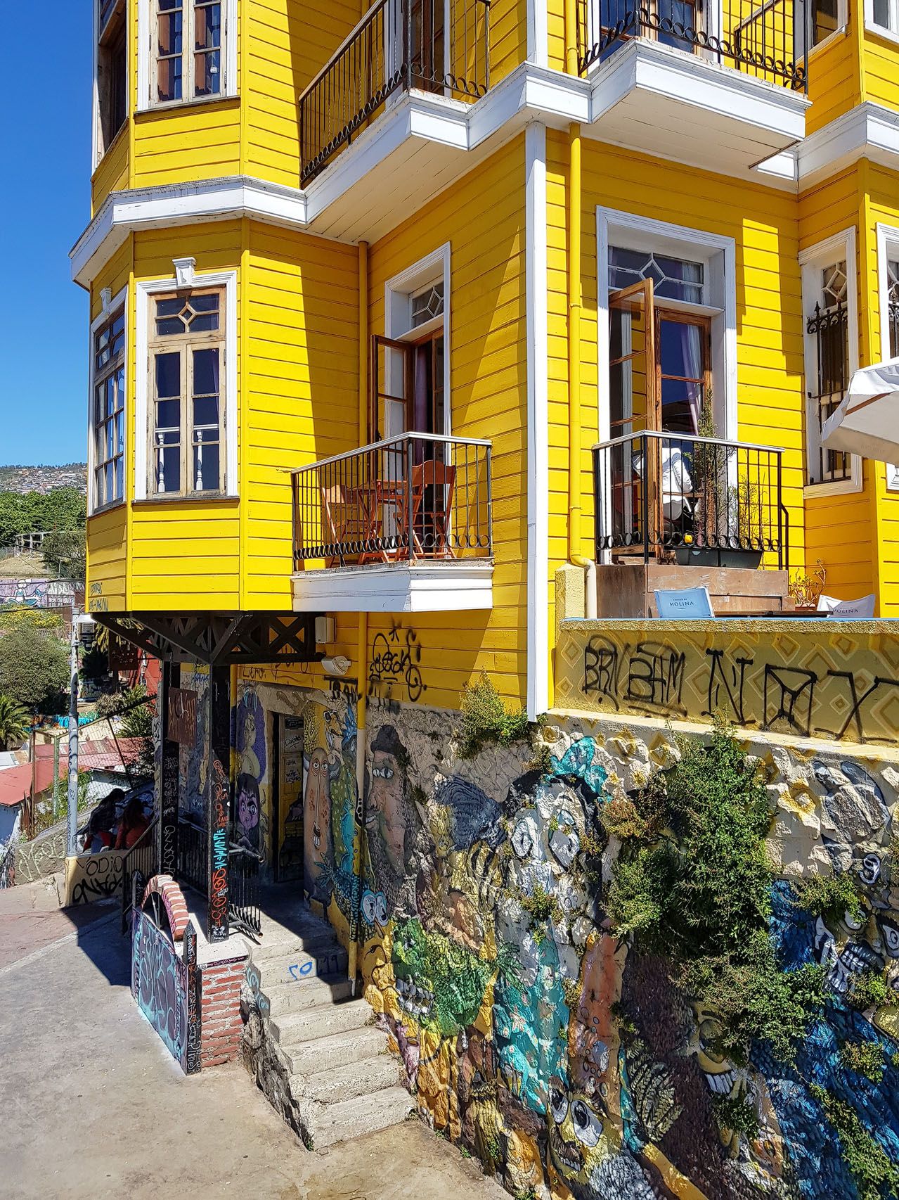 Am Cerro (Hügel) Bellavista in Valparaiso