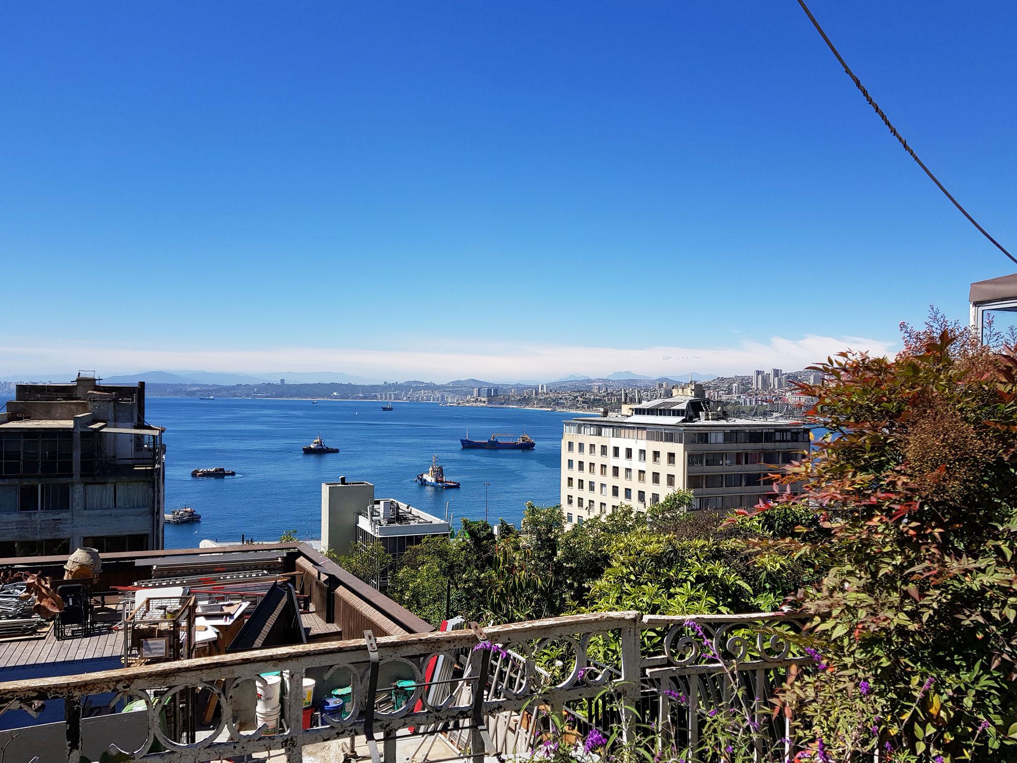 Blick zum Hafen von Valparaiso