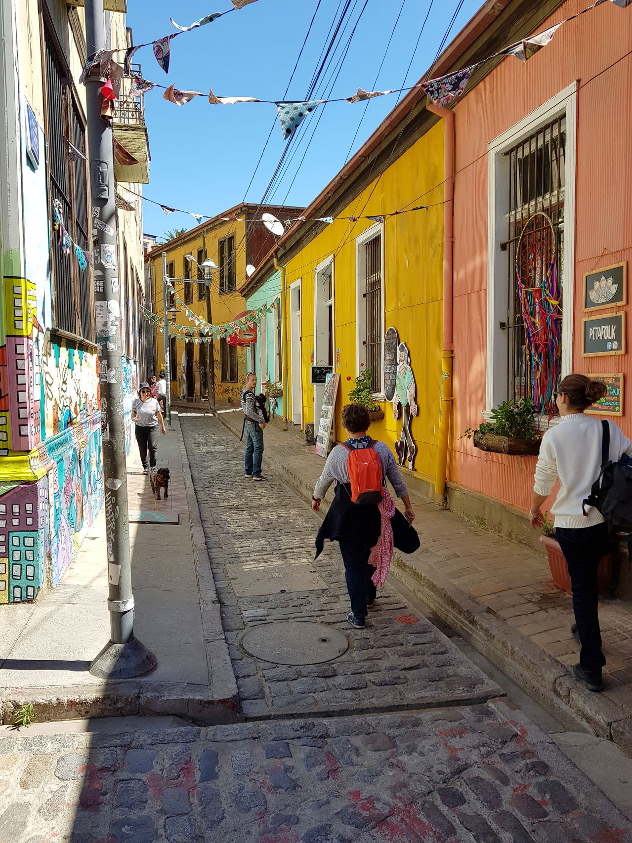 Gasse in Valparaiso