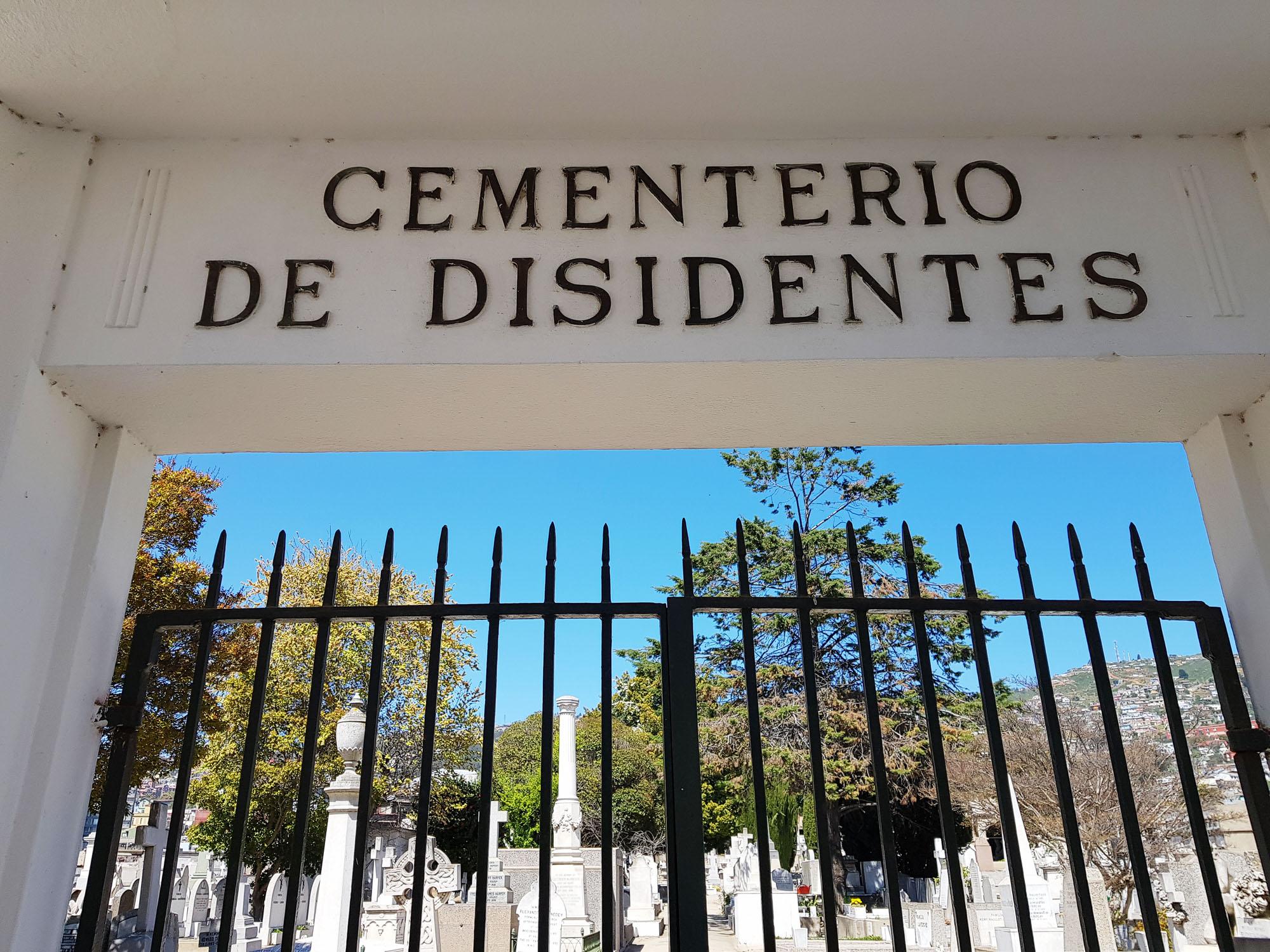 Eingang Dissidentenfriedhof am Cerro (Hügel) Bellavista in Valparaiso