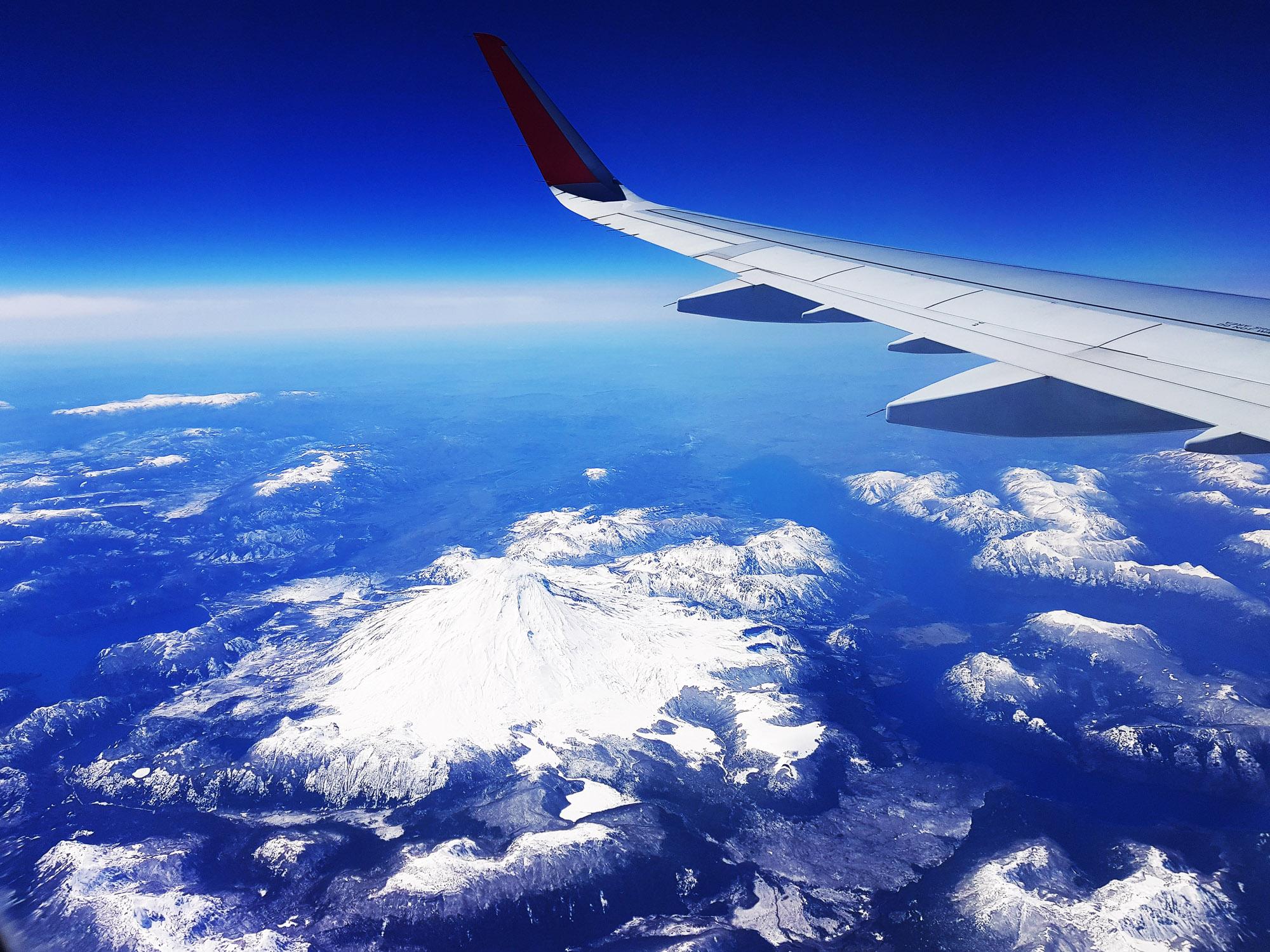 Vulkan Osorno, gesehen beim Flug von Santiago nach Punta Arenas
